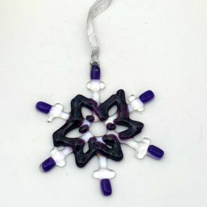 """snowflake with deep purple accents ~4"""""""